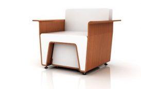 Un sillón en dos colores